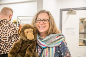 Nathalie with the Monkey