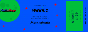 Weekly French schedule for children