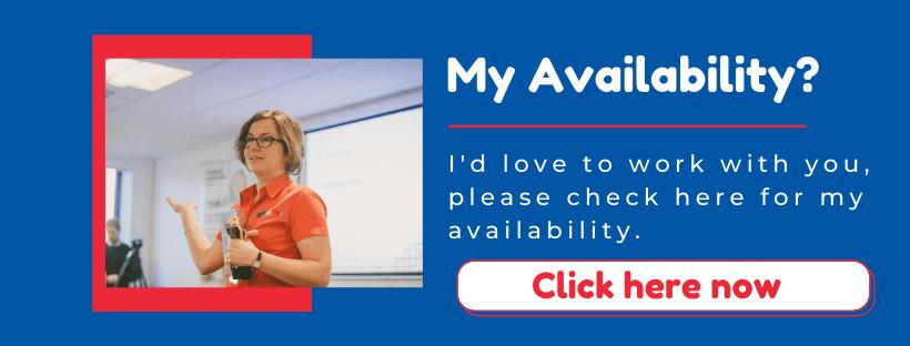 My Availability advert link